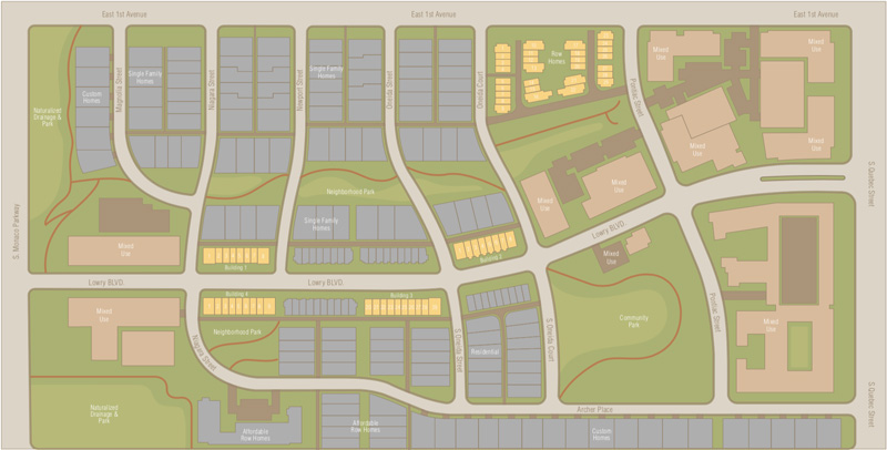 Boulevard One Lot Plan