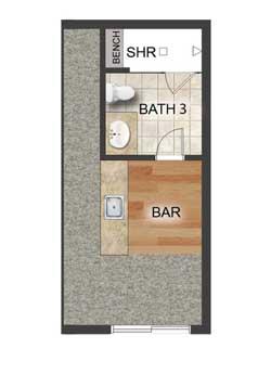 Third Level Bar Bath Option