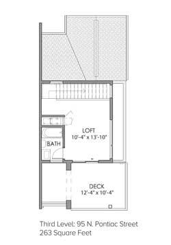 Third Level: 95 N. Pontiac Street