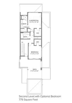 Second Level with Optional Bedroom