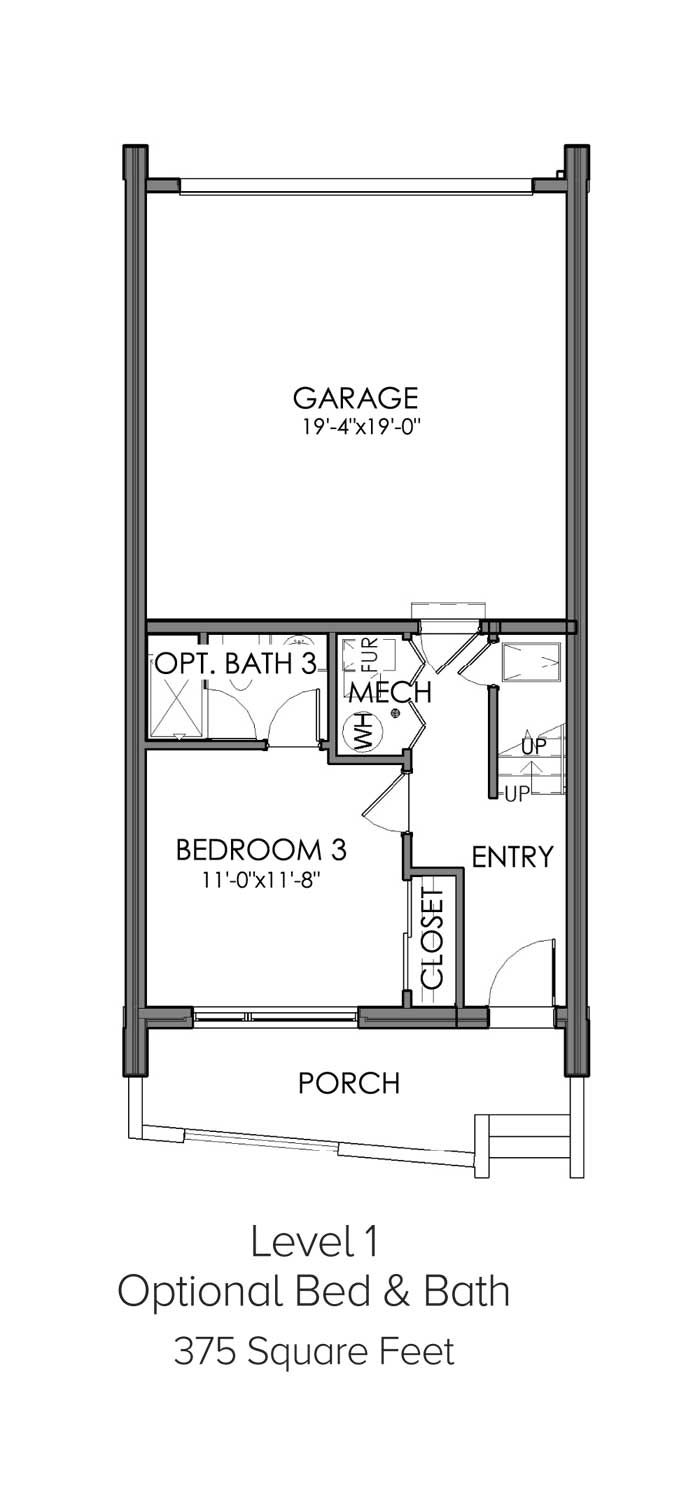 Level 1 Optional Bed and Bath